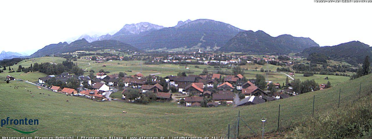 Webcam im Ortsteil Rehbichl in Pfronten