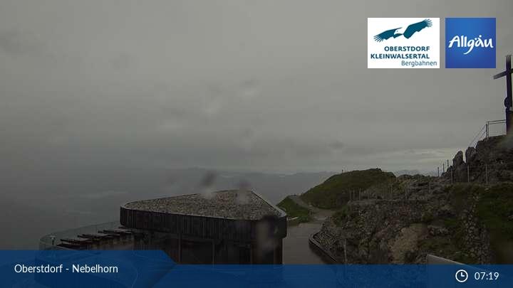 Webcam mit Blick auf das Nebelhorn in Oberstdorf