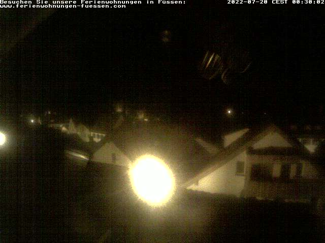 Webcam mit Blick auf den Tegelberg und Säuling in Füssen