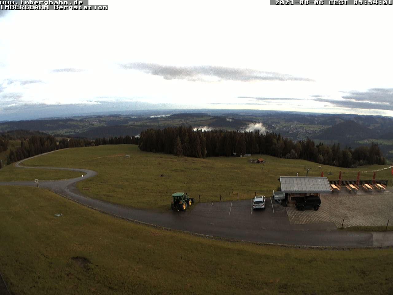 Webcam mit Blick auf die Imbergbahn in Oberstaufen