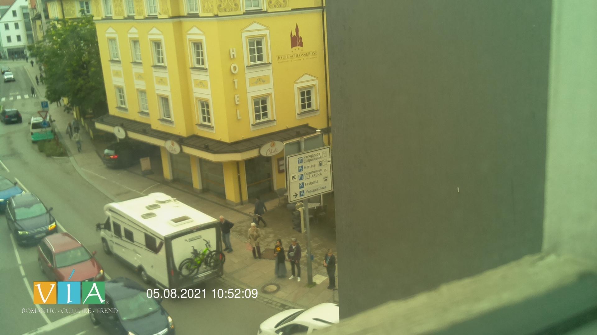 Webcam mit Blick auf das Hotel Sonne Füssen