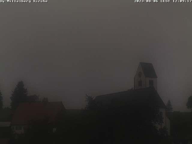 Webcam mit Blick die Kirche in Oy-Mittelberg